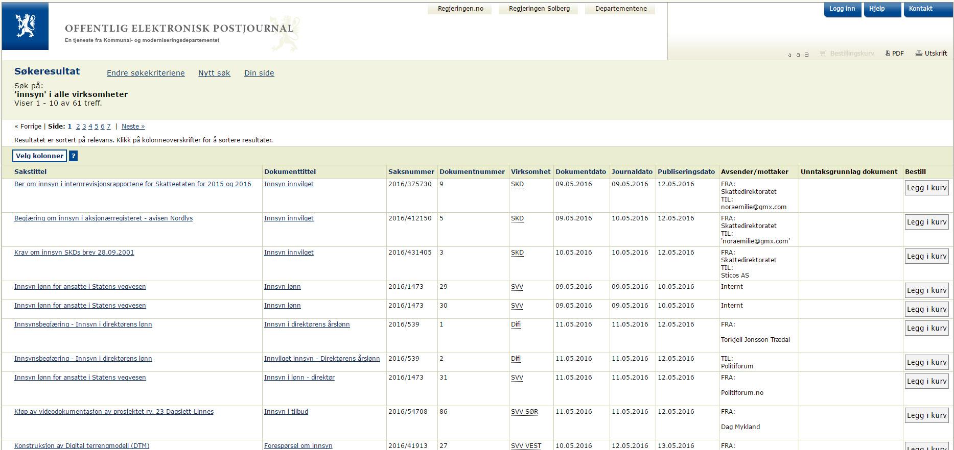 Norske postliste gør det let at søge på sager på tværs af myndigheder. Prøv selv.